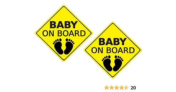 Soulq 2 Stücke Baby An Bord Aufkleber Für Auto Autoaufkleber Sicherheitsschilder Selbstklebend Einfach Zu Installieren Wasserdicht Küche Haushalt