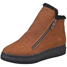 Sunnywill-Chaussures Montantes pour Femmes, Bottes d'hiver en Velours Chaud