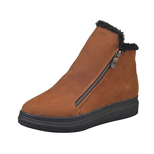 Damenschuhe,Lederschuhe für Damen - Flickr Frauen Stiefel Low Heels Winter Schneeschuhe Stiefeletten für Frauen Schuhe (Für Oxford Frauen Low Heels)