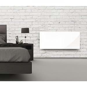 ALPINA Radiateur rayonnant 2000W Verre Blanc LCD