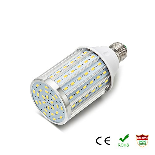 ONLT Lampadine Led , E27 35W 4000K 3450LM 108X5730SMD 350W Lampadina analogica di alluminio ad alta potenza equivalente, AC85-265V, lampione a LED, proiettore a 360 gradi, per garage, strada privata(35W-Luce naturale)