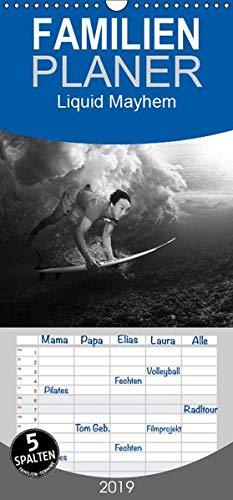 Liquid Mayhem - Surf- und Unterwasser- Aufnahmen - Familienplaner hoch (Wandkalender 2019 , 21 cm x 45 cm, hoch): Water Collection, Flip Art 12 Seiten (Monatskalender, 14 Seiten ) (CALVENDO Sport) -
