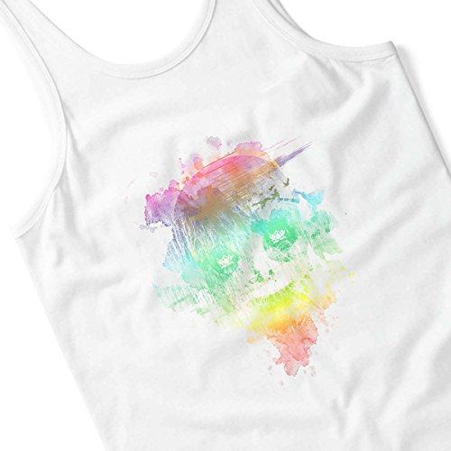Neon Skully Women's Vest White