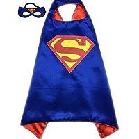 Samanthjane Superhero Dress Up Costume Cape and Mask Set (Superman)