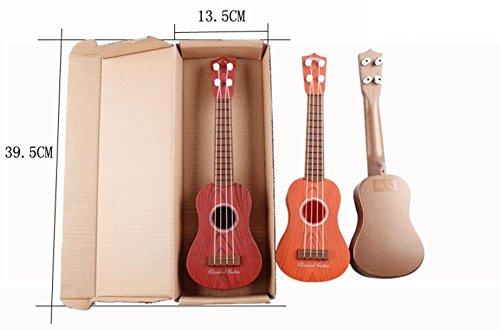 ZoraQ Kinder pädagogische Musik Spielzeug Geburtst Kürbis Modelle spielbare Kinder Simulation Gitarre Ausbildung Ukulele Instrument (zufällige Farbe)