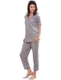 Jinyufeng Mujeres Moda Pijamas Chándal para Dormir DK5101(Medium)