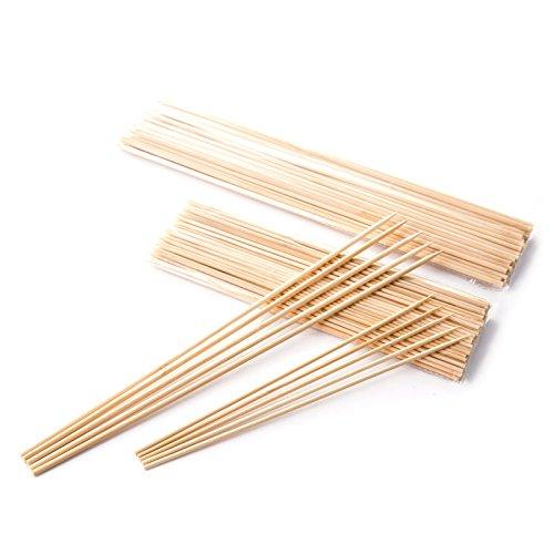 41vgNpRXuaL - Lumanuby 90 x Holz Grillspieße Marinaden Sticks, Einweg-Grill Utensilien Bambus Party Sticks, perfekt für BBQ Fleisch, Steaks vieles mehr (20 cm)