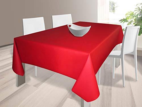 HuleHule Mantel Tela Resinada Antimanchas Color Rojo