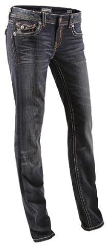 Damen Jeans von MEK, New York, Straight Leg, dark blue,