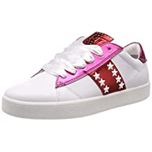 MARCO TOZZI Women's 2-2-23708-32 Low-Top Sneakers, White (White/Pink Met 104), 7.5 UK