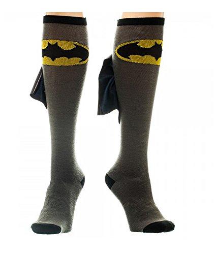 Batman Cape Socks - DC Comics Batman Shiny Cape Black