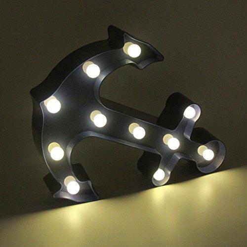 MagiDeal Maritime Deko Anker Design 3D LED Nachtlicht