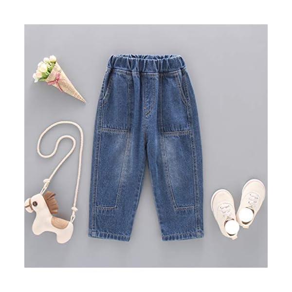 QinMMROPA bebé niñas niños Jeans Vaqueros Pantalones Largos 3
