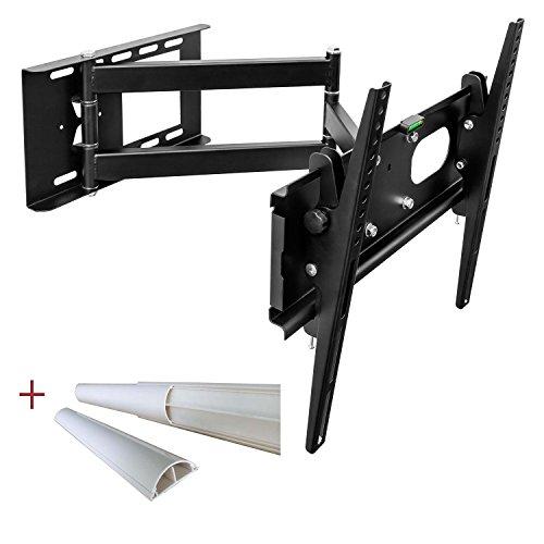 TV universale montaggio a parete Staffa Tilt Swivel per il plasma LED LCD televisori fino a 165 cm (65 pollici) con VESA 100x100 a 400x400, la distanza a parete da 10 a 65cm, Colore Nero