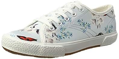 Tamaris Damen 23610 Sneakers, Mehrfarbig (Blue Floral 875), 36 EU