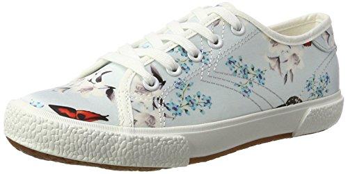 Tamaris Damen 23610 Sneakers, Mehrfarbig (Blue Floral 875), 38 EU (Sneaker Mit Blumen, Frauen)