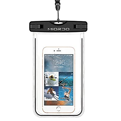 Waterproof Case, MOEIDO Universal Waterproof Phone Case Dry Bag, Transparent Windows, Watertight Sealed System, Mobile Phone Case Waterproof Bag, Eco-Friendly TPU Construction and IPX8 Rated, for iPhone 7, 7 Plus, 6, 6s Plus, Andriod Cellphone up to 6 inches, for