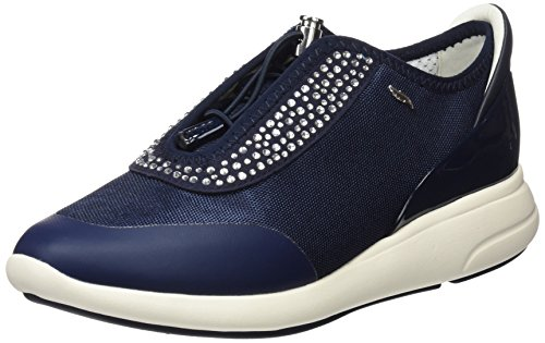Geox d ophira e, scarpe da ginnastica basse donna, blu (navy), 39 eu