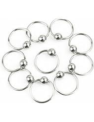 10 x Nuevo Piercing Pendientes para Ceja Labio Nariz Joyería Redondo Bisutería