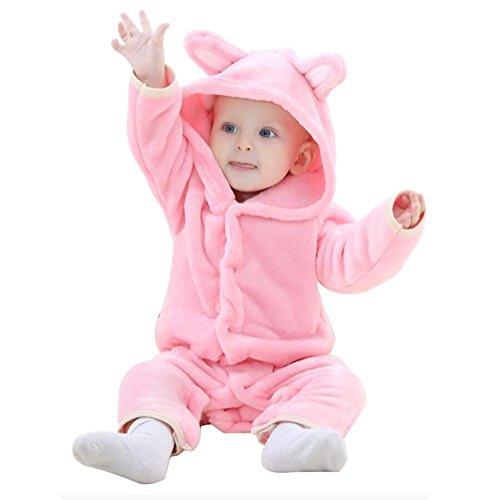 as Bademäntel Frühling und Herbst Weich Flanell Tier Karikatur Body-Anzug Ein Stück Nachthemden 0-2 Jahre alt , 90 (8 Monat Altes Baby-mädchen Halloween-kostüm)