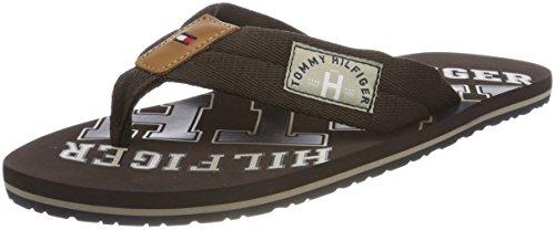 Tommy Hilfiger Herren Essential TH Beach Sandal Zehentrenner Braun (Coffee Bean 212)