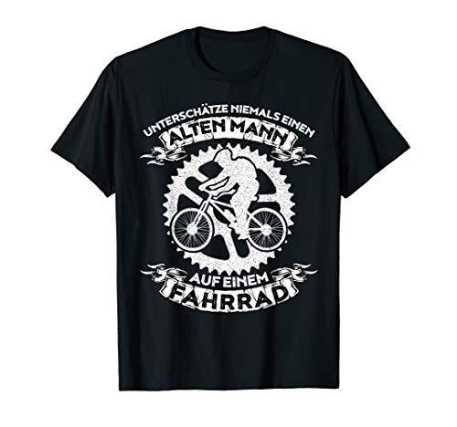 Unterschätze niemals einen alten Mann mit Fahrrad T-Shirt