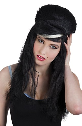 Boland 86067 Erwachsenenperücke Rebell, schwarz, One - Amy Winehouse Fancy Dress Kostüm