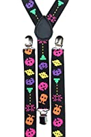 Alien Invaders Retro Trouser Suspenders Braces - For occasional use