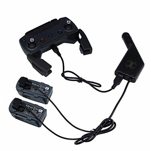 siyangmy Caricatore per auto per batterie DJI Spark e telecomando Trasmettitore 3in1