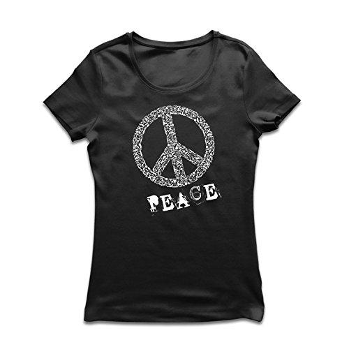 irt FRIEDENSsymbol - 1960er Jahre 1970er Jahre Hippie Hippie, Street-Kleidung, Friedenszeichen, Sommer Festival Hipster Swag (Medium Schwarz Mehrfarben) (Guter Bruder Und Schwester Kostüme)