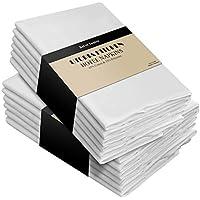 Utopia Kitchen - Serviettes de table en coton - Paquet de 12 (46 x 46 cm) Doux et confortable - Qualité d'hôtel durable - Idéal pour les événements et l'utilisation domestique régulière (Blanc)