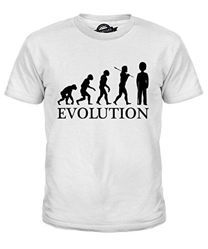 gliche Wache Evolution Des Menschen Unisex Jungen Mädchen T Shirt, Größe 2 Jahre, Farbe Weiß (Beefeater-kostümen)