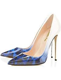 008aa5ec767f7 Caitlin Pan Mujeres Bombas de Punta Estrecha Formal Zapatos de Mujer Tacones  de Aguja Alta Sexy