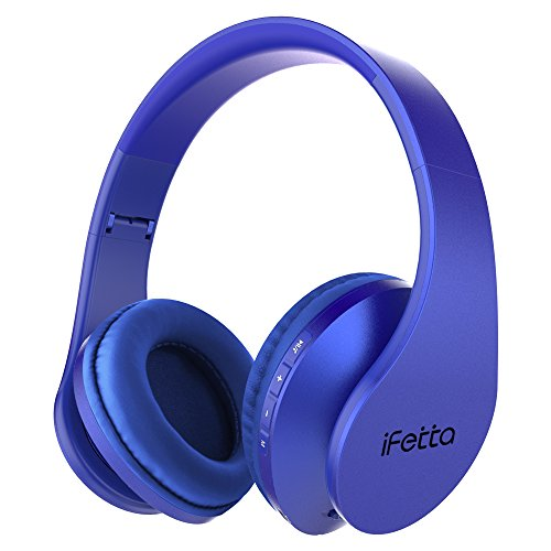 Ifecco Cuffie Bluetooth Over Ear, Cuffie Stereo Wireless con Microfono Incorporato/Lettore MP3/Radio FM/Auricolari Comodi,...