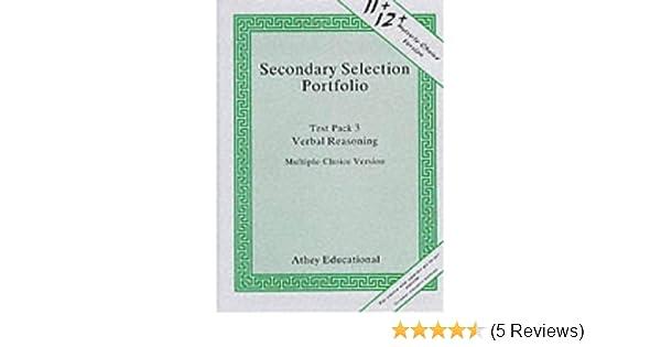 Secondary Selection Portfolio: Verbal Reasoning Practice
