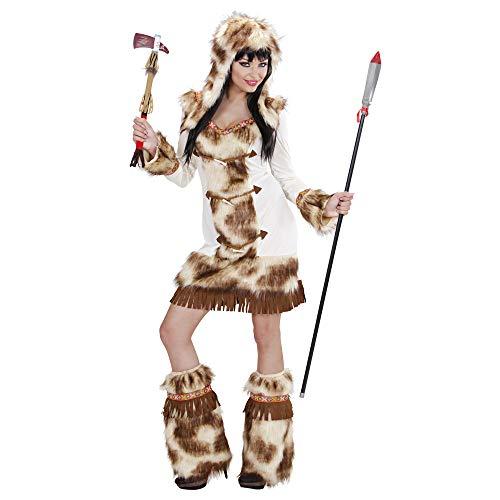 Widmann 02163 - Erwachsenenkostüm Weeko Indianerin, Kleid mit Kapuze und Stulpen