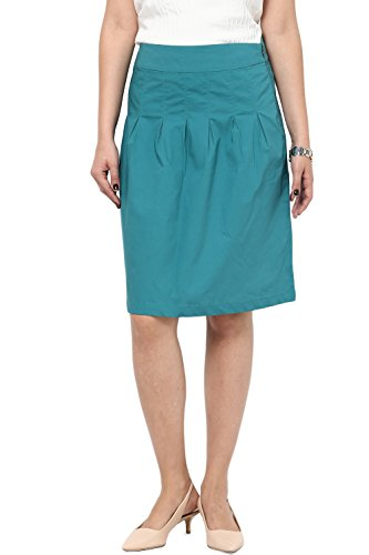 Women's Sand Box Pleated Straight Fit Knee Length Formal Skirts at ...