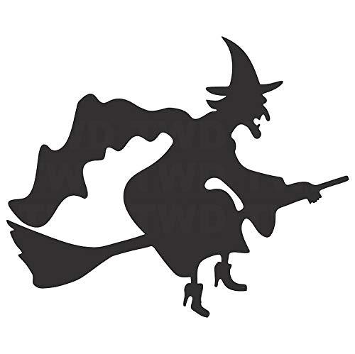 jiushizq Halloween Wandaufkleber Aufkleber Vinyl Fliegende Hexe Wandaufkleber Steuern Dekor Wohnzimmer Tür Fenster Schmücken Removable Z 56x68 cm