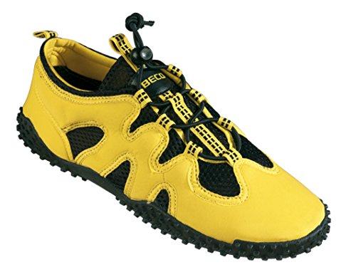 BECO Badeschuhe Aqua Schuhe Surfschuhe Sneaker Beach Schuhe Gr 40 gelb
