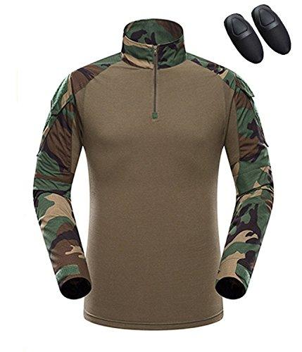haoYK Camiseta de Combate Militar Paintball con...