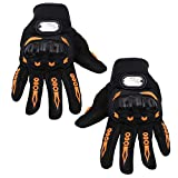 #10: Kurtzy Riders Motor Gloves Full Finger for Sports Bike Cycle Men Women Touch Screen Hand Grip Protector for Adults 1 Pair