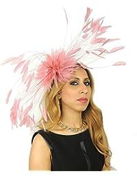 fa75483b79874 Giant Eagle Owl Feather Fascinator Hat for Ascot, Kentucky Derby & Weddings  - HEADBAND