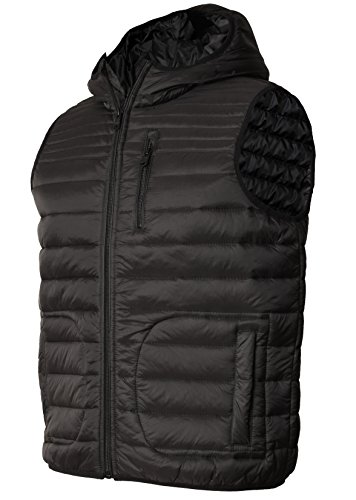 Herren Threadbare Designer Gilet Gesteppt Bodywarmer Ärmellos Jacke Mantel PARTRIDGE DMV019 Schwarz