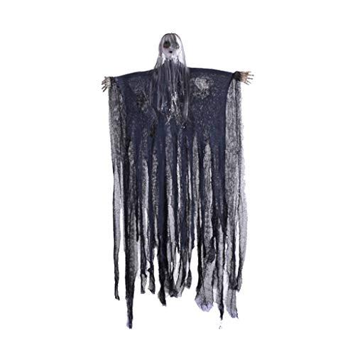 Kostüm Sexy Gespenstische Braut - huichang Halloween - Haunted House Dekoration - Gruselige schauende Geist-Horror-Halloween Dice Voice Control Anhänger-Dekorationen, die perfekte Dekoration für Halloween by (blau)