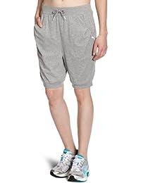 Puma Bermuda - Pantalones para mujer, tamaño S, color athletic gray heather
