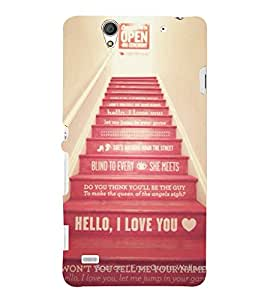 EPICCASE Love Steps Mobile Back Case Cover For Sony Xperia C4 (Designer Case)