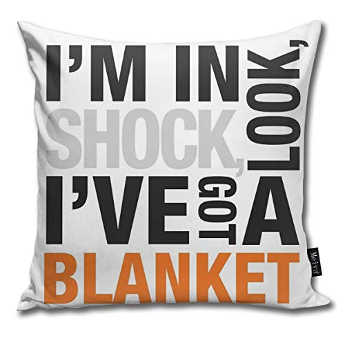 QMS CONTRACTING LIMITED Throw Pillow Cover 18 x 18 Inch 45 x 45 Cm Square Sherlock Blanket Quote Typography Pillow Cover for Sofa Bedroom Car Decor