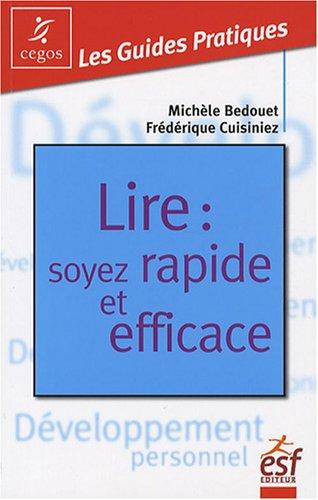 Lire : soyez rapide et efficace par Michèle Bedouet