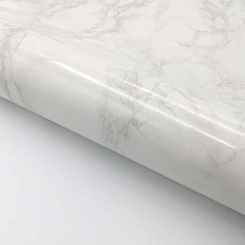 r Kontakt Papier selbstklebend, 61x 199,9cm Rolle-Faux Marmor Papier Granit Look Tapete für die Theke Top Küche Schrank Möbel Beige Gray ()
