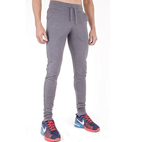 Arrested Development - Pantaloni da ginnastica da uomo, super aderenti Light Grey